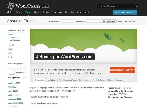 Tutoriel vidéo Comment installer et paramétrer JetPack Pour WordPress.